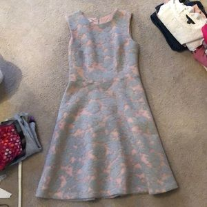Pink and Gray floral dress